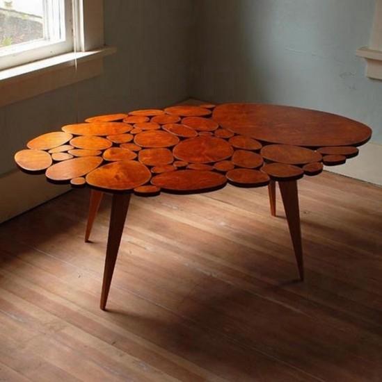 Modern Wood Circle Table