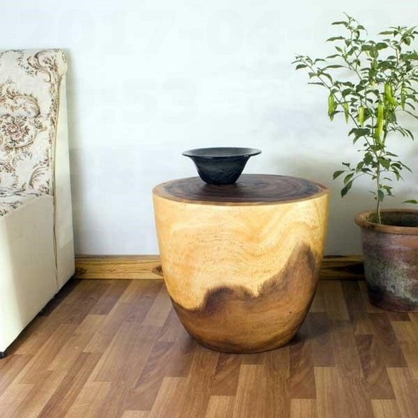 Monkey pod side table natural wood furniture ideas