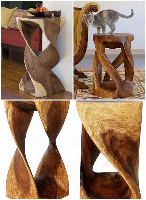 Monkey pod tree furniture ideas original side tables