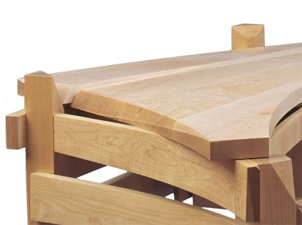 Solid wood desk artistically created by Nico Yektai