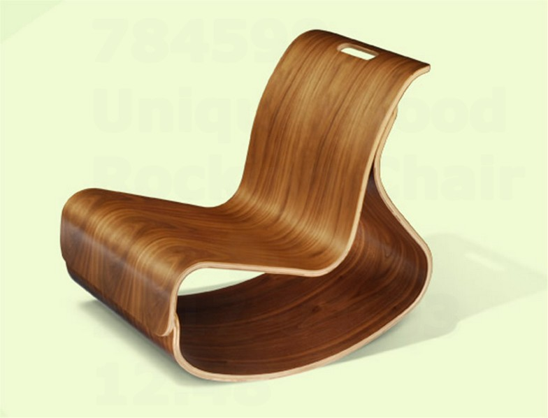 Unique Wood Rocking Chair Design