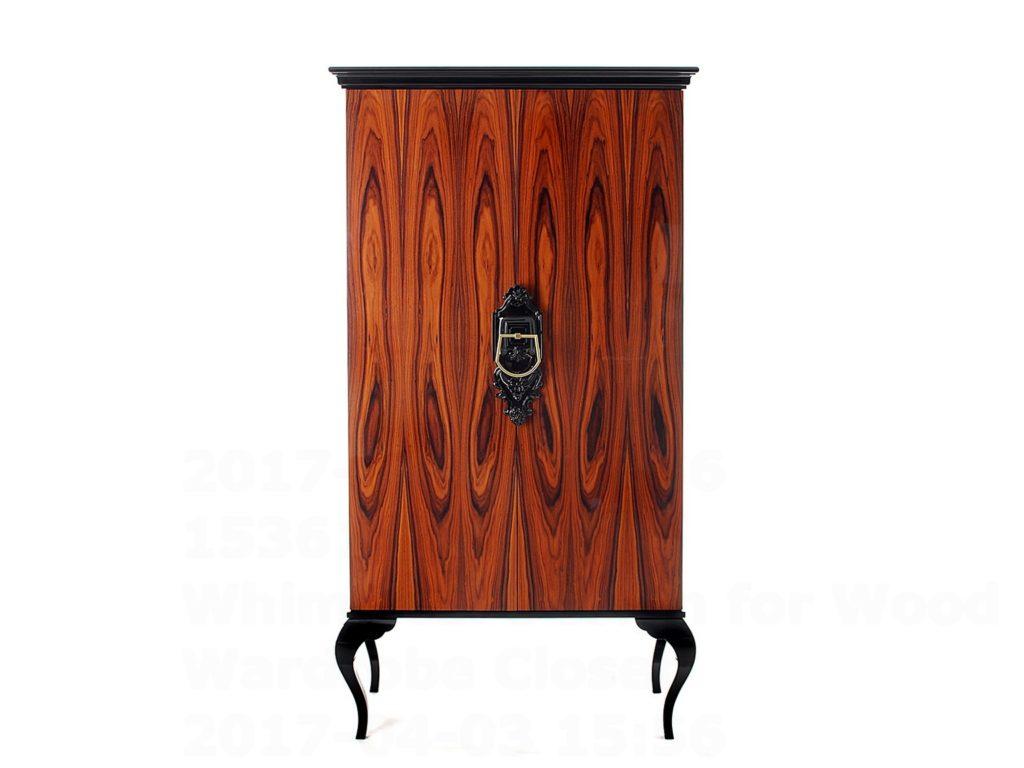 Whimsical Design for Wood Wardrobe Closet