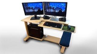 easy computer desk plans