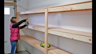 how to build a shelf in garage