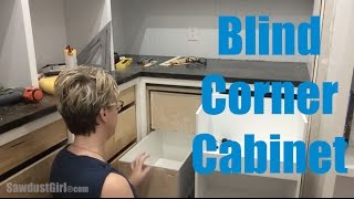 how to build corner cabinet drawers