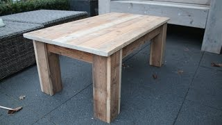 how to make a simple coffee table