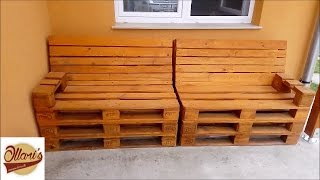 how to make lawn furniture out of pallets