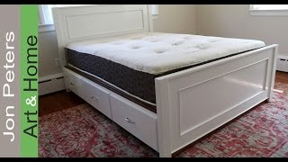 woodworking plans bed with drawers